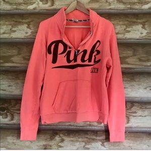 PINK Victoria's Secret quarter zip sweatshirt Sz M